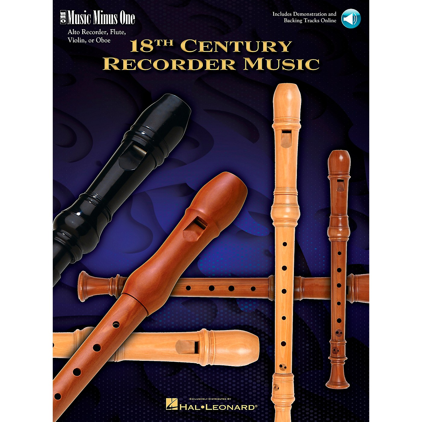Music Minus One 18th Century Recorder Music (Deluxe 2-CD Set) Music Minus One Series Softcover with CD by Various thumbnail