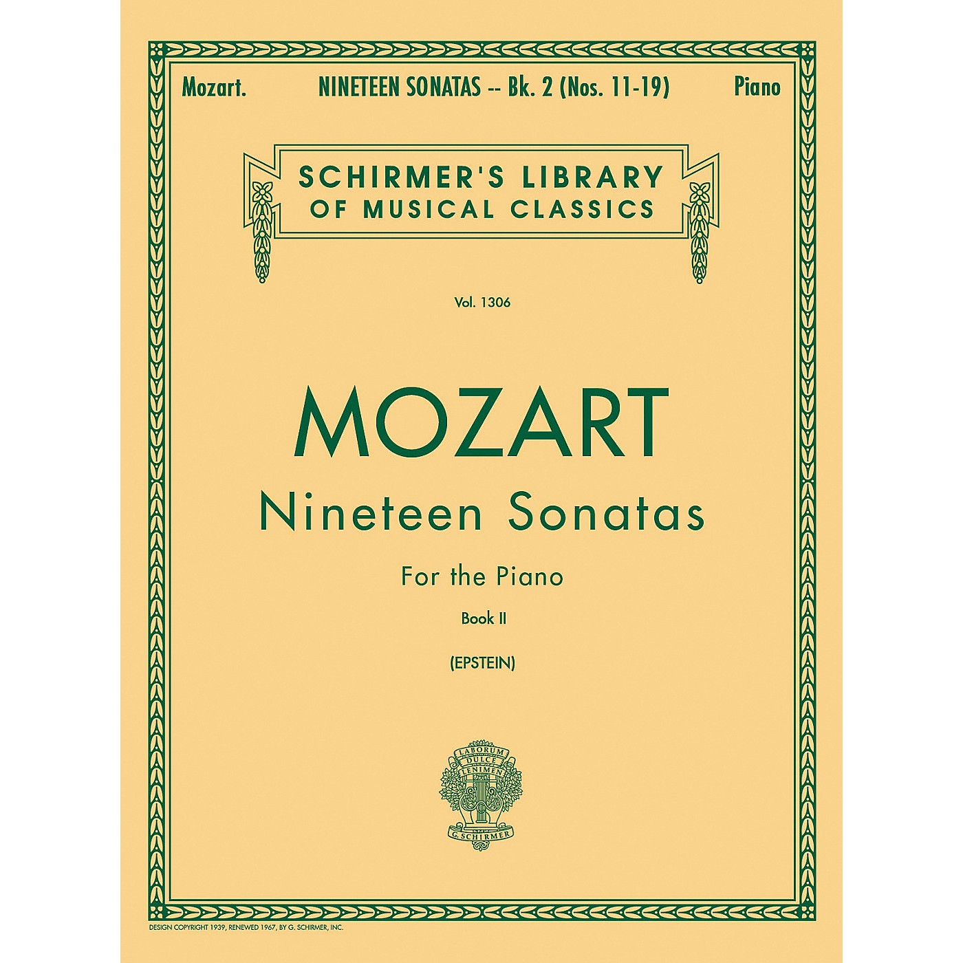 G. Schirmer 19 Sonatas for The Piano Book 2 English / Spanish Text By Mozart thumbnail