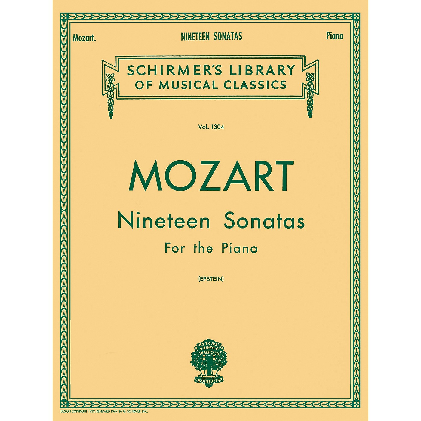 G. Schirmer 19 Sonatas for The Piano Complete By Mozart thumbnail