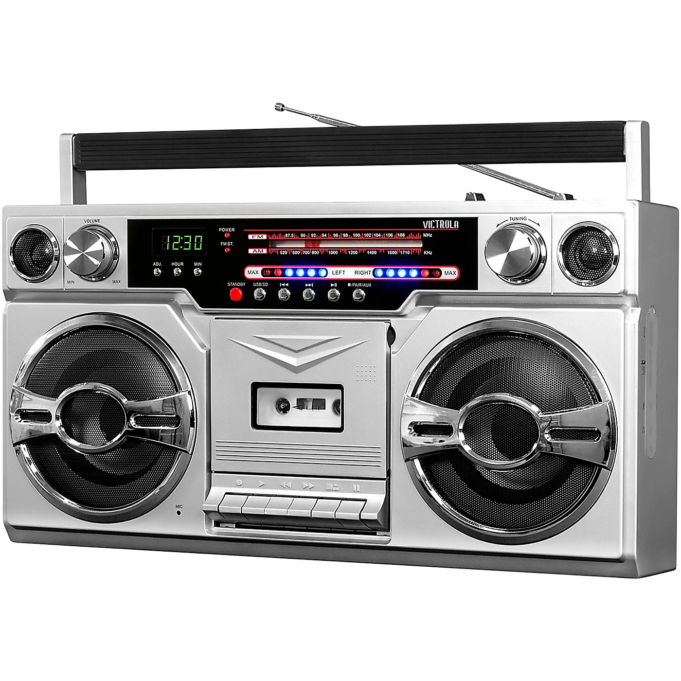 Victrola 1980's Bluetooth Boombox with Cassette Player and AM/FM Radio thumbnail