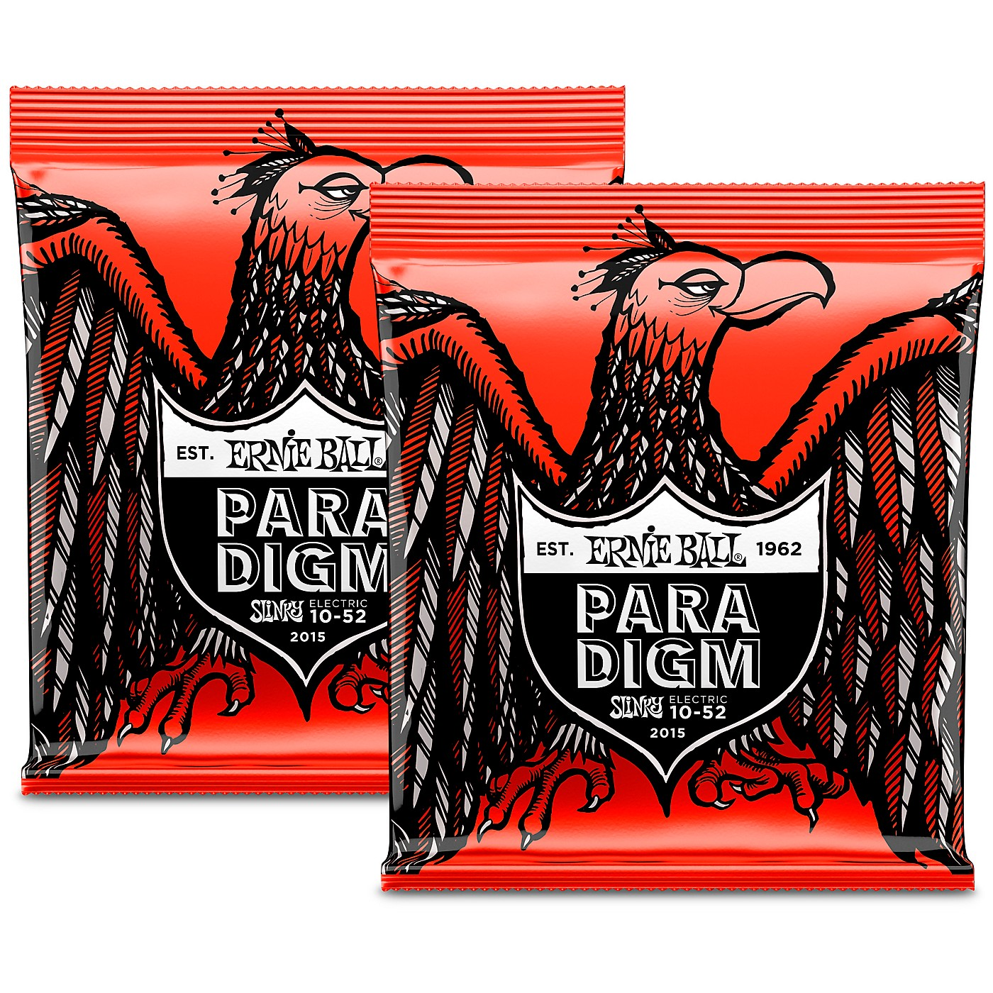 Ernie Ball 2 Pack- Paradigm Skinny Top Heavy Bottom Electric Guitar Strings Bundle thumbnail