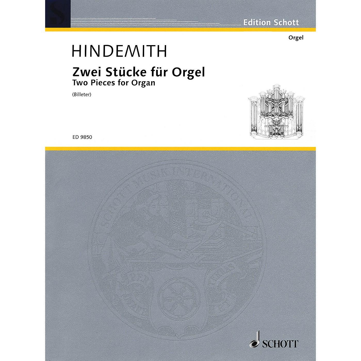 Schott 2 Pieces for Organ (1918) Schott Series thumbnail