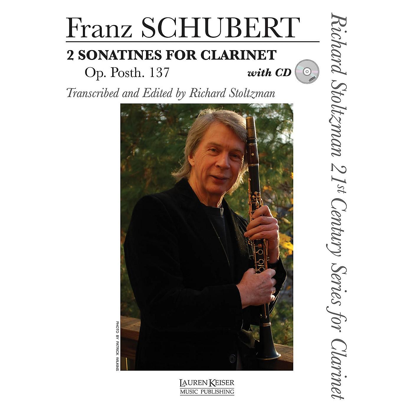 Lauren Keiser Music Publishing 2 Sonatines for Clarinet, Op. post. 137 LKM Music BK/CD Composed by Schubert Edited by Richard Stoltzman thumbnail