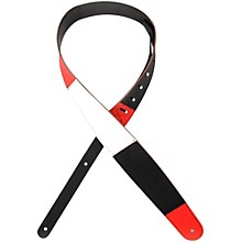 """D'Addario Planet Waves 2.5"""" Leather Guitar Strap, Horizontal Stripe, by D'Addario"""