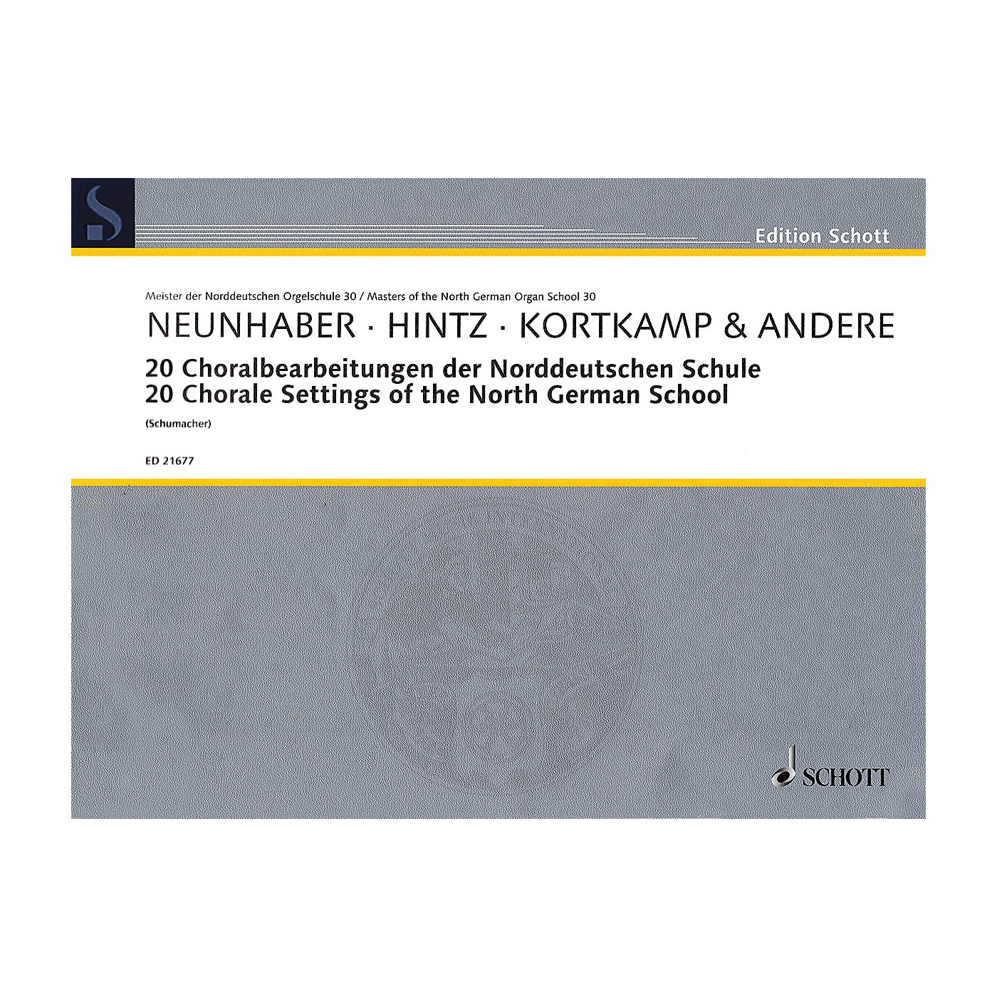 Schott 20 Chorale Settings of the North German School Organ Collection Series Softcover thumbnail
