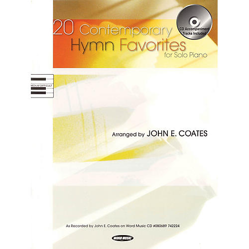 Word Music 20 Contemporary Hymn Favorites for Solo Piano Sacred Folio Series Softcover with CD thumbnail