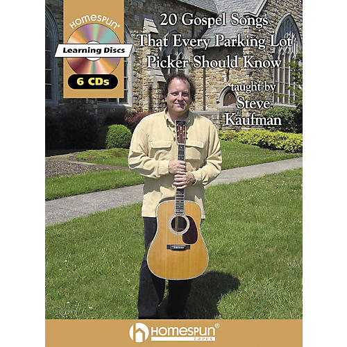 Homespun 20 Gospel Tunes That Every Parking Lot Picker Should Know Guitar Book with CD-thumbnail