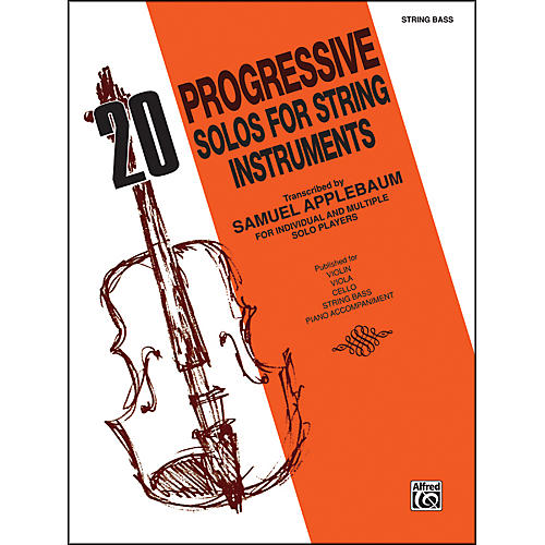 Alfred 20 Progressive Solos for String Instruments Bass thumbnail