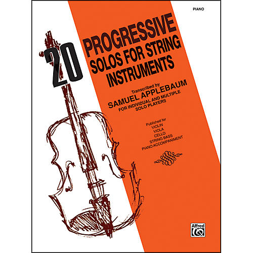 Alfred 20 Progressive Solos for String Instruments Piano Acc. thumbnail