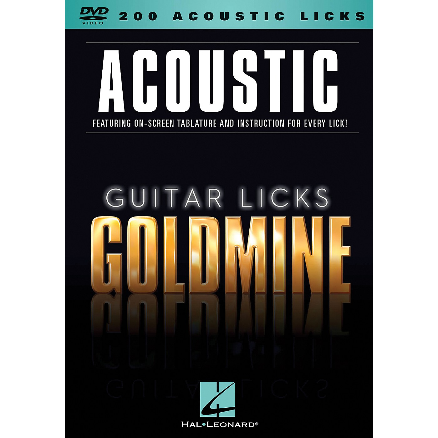 Hal Leonard 200 Acoustic Licks - Guitar Licks Goldmine DVD Series thumbnail