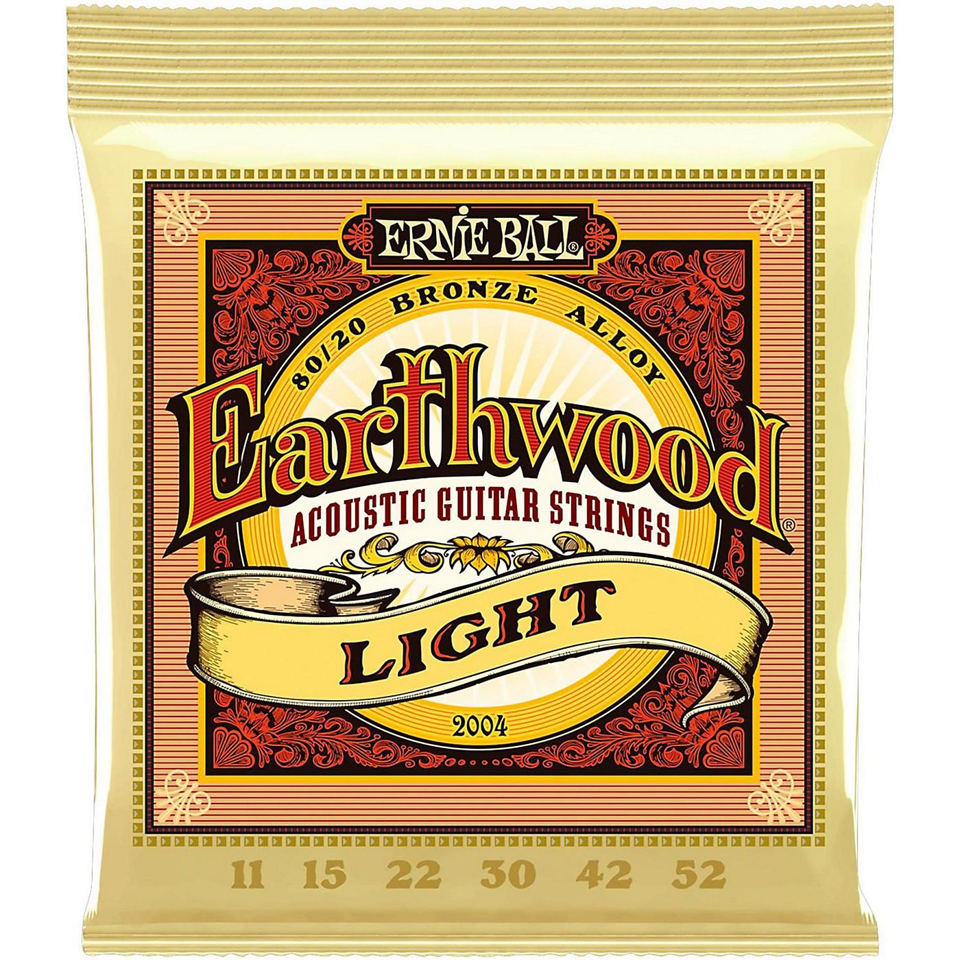 Ernie Ball 2004 Earthwood 80/20 Bronze Light Acoustic Guitar Strings thumbnail
