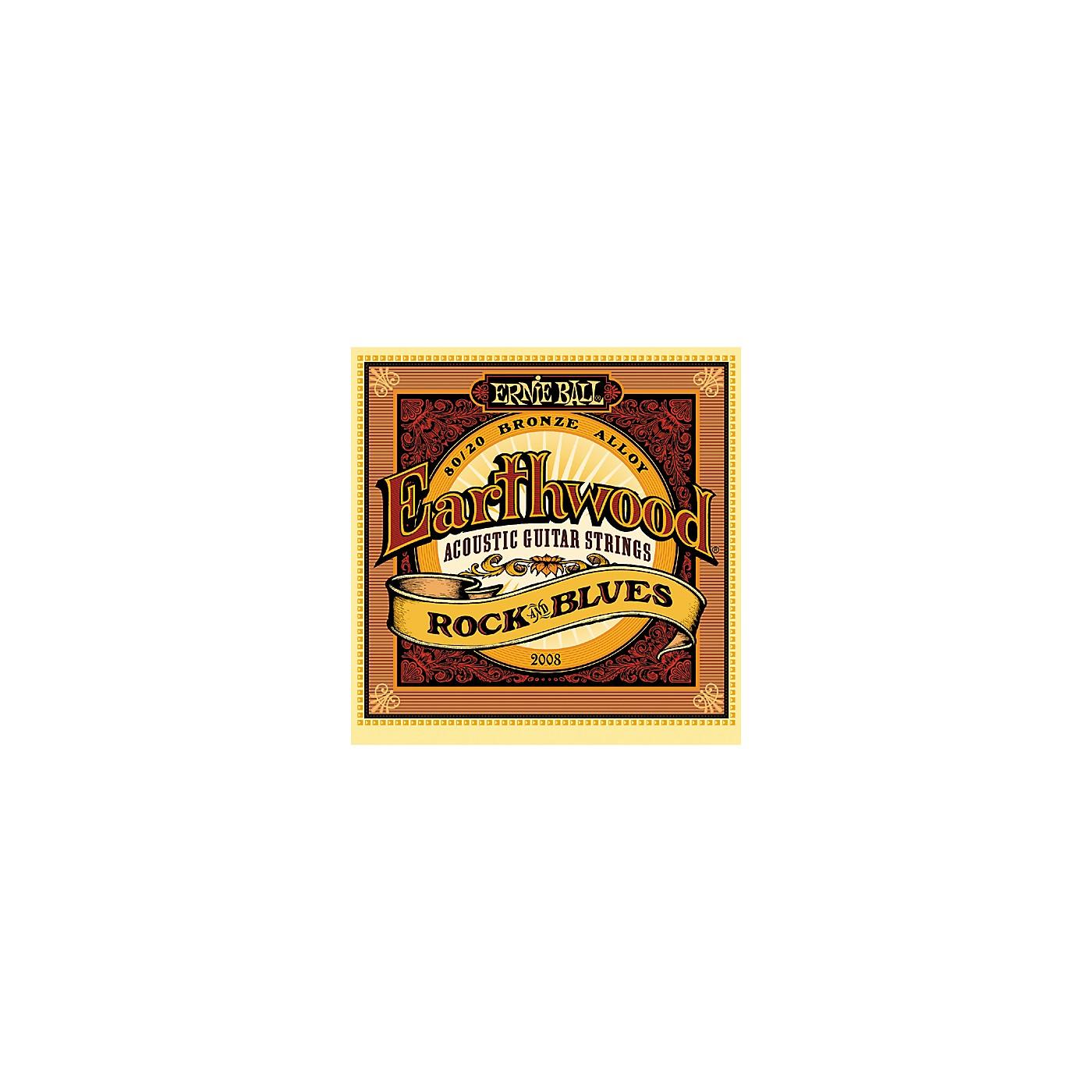 Ernie Ball 2008 Earthwood 80/20 Bronze Rock and Blues Acoustic Guitar Strings thumbnail