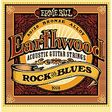 Ernie Ball 2008 Earthwood 80/20 Bronze Rock and Blues Acoustic Guitar Strings