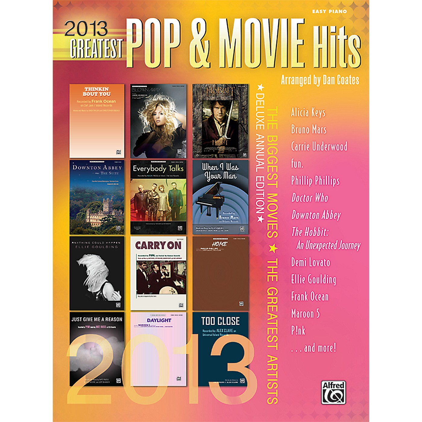 Alfred 2013 Greatest Pop & Movie Hits Easy Piano Book thumbnail
