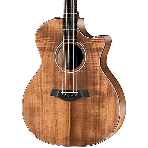 Taylor 2014 Fall LTD Grand Auditorium Cutaway All Koa Acoustic-Electric Guitar-thumbnail