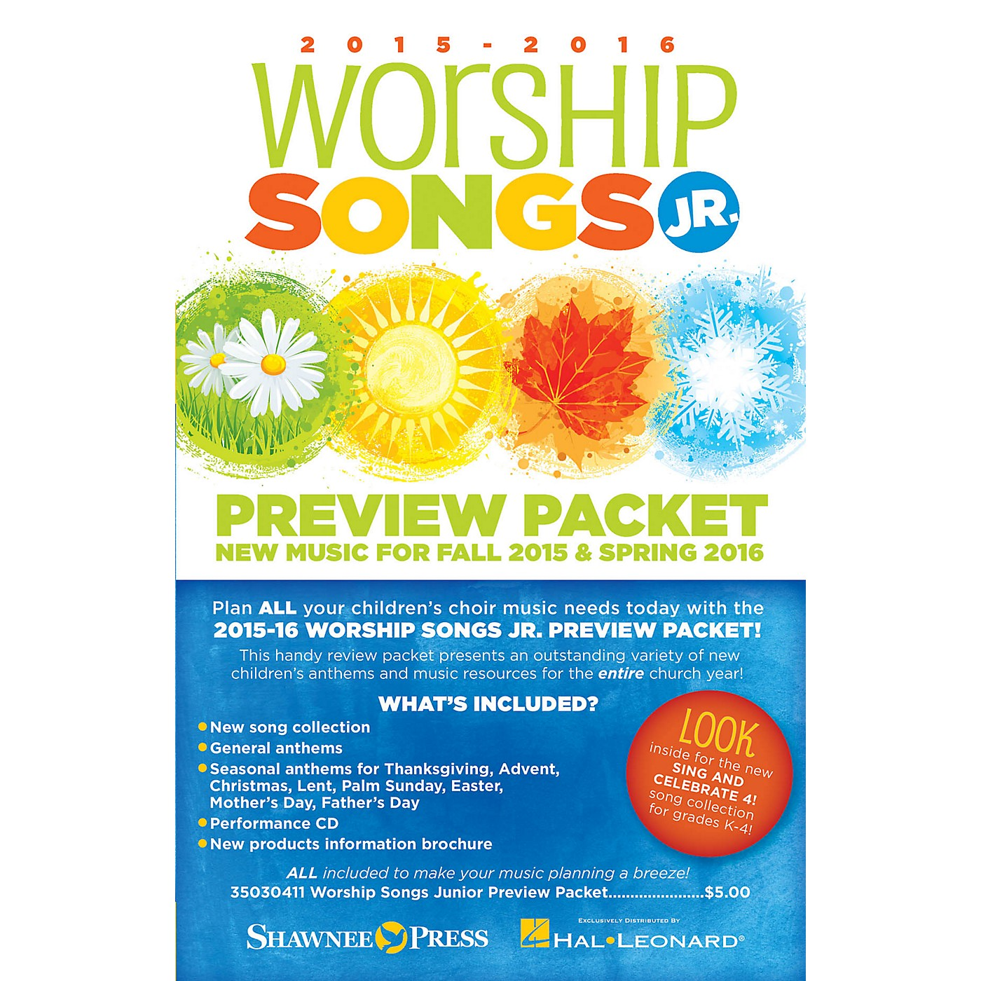 Shawnee Press 2015-16 Worship Songs Junior Preview Packet Resource Kit Composed by Various thumbnail