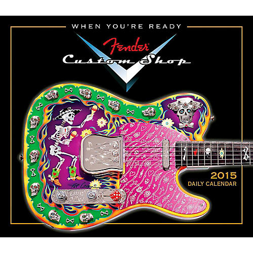 Hal Leonard 2015 Fender Custom Shop Boxed Daily Calendar thumbnail