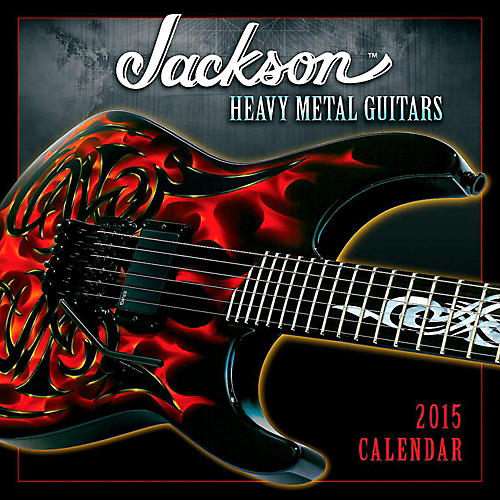 Hal Leonard 2015 Jackson Heavy Metal Guitars 12 Month Wall Calendar thumbnail