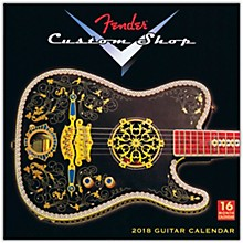 Fender 2018 Fender Custom Shop Wall Calendar 16 Months
