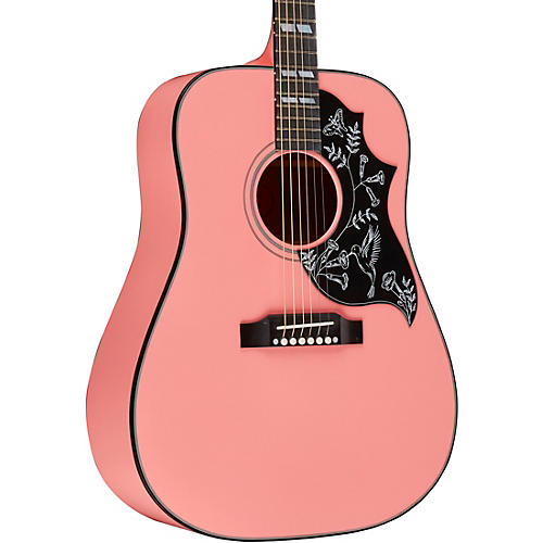 Gibson 2018 Limited Edition Hummingbird Acoustic-Electric Guitar - Techno Pink thumbnail