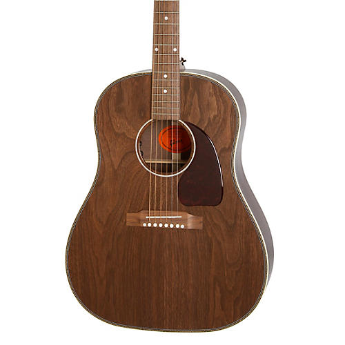 gibson 2018 limited edition j 45 all walnut herringbone acoustic electric guitar woodwind. Black Bedroom Furniture Sets. Home Design Ideas