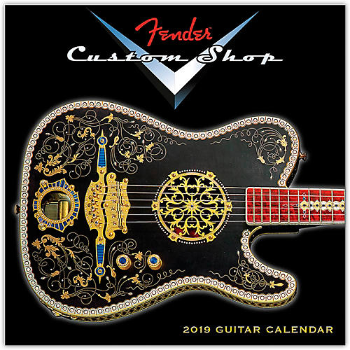 Hal Leonard 2019 Fender Custom Shop Mini Wall Calendar thumbnail