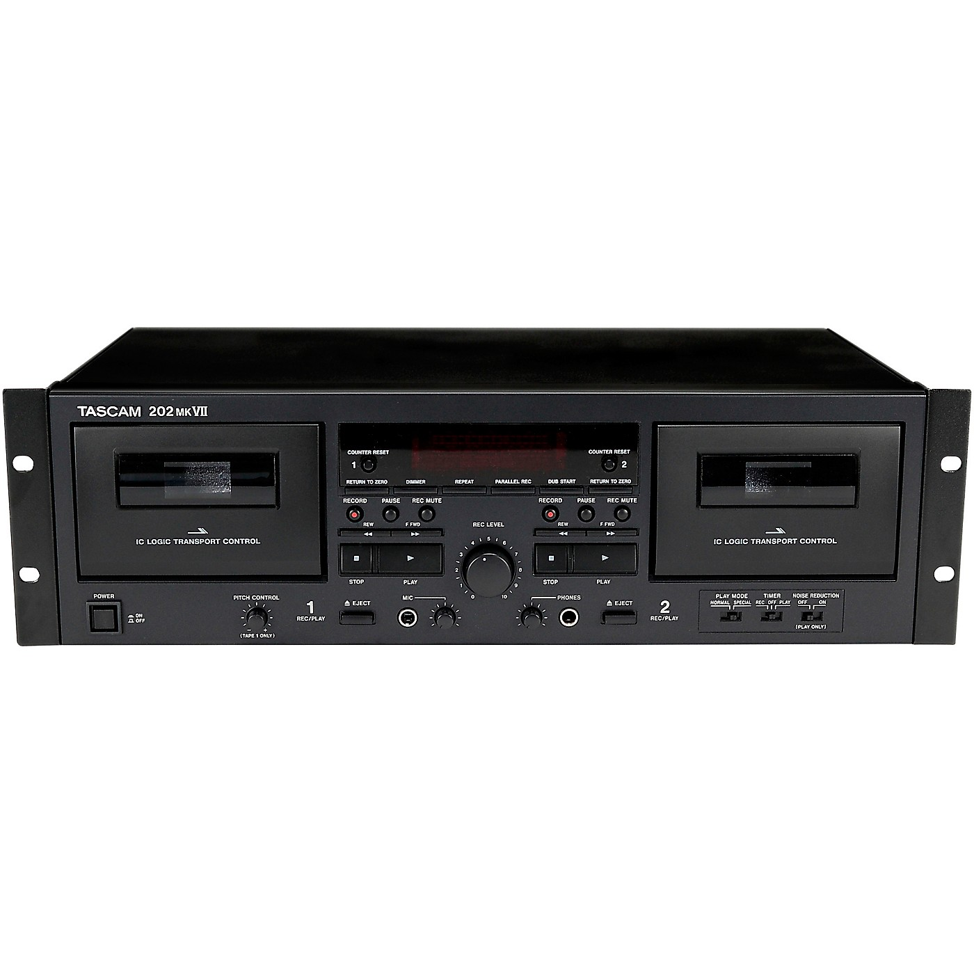 Tascam 202MKVII Double Cassette Deck With USB Port thumbnail