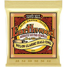 Ernie Ball 2069 Earthwood 80/20 Bronze Folk Nylon Ball End Acoustic Guitar Strings