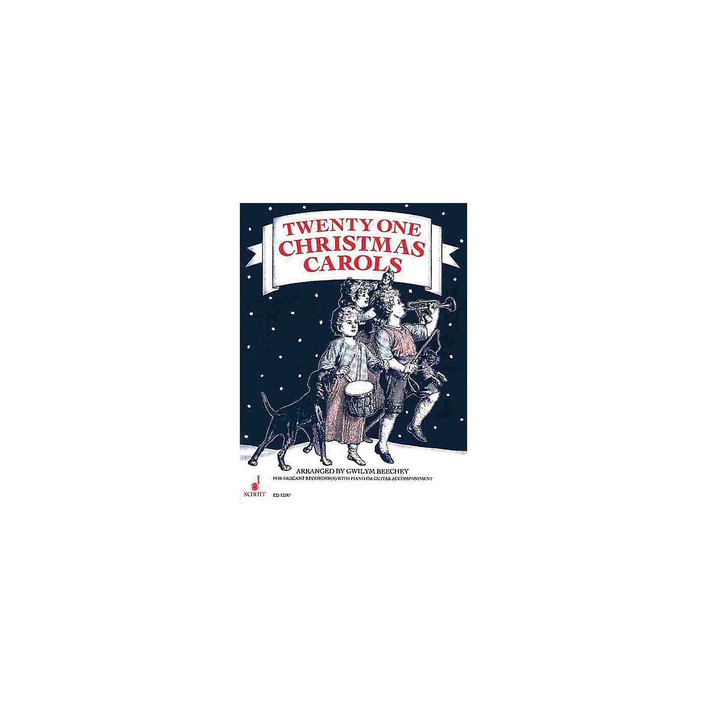 Schott 21 Christmas Carols (Performance Score) Schott Series Arranged by Gwilym Beechey thumbnail