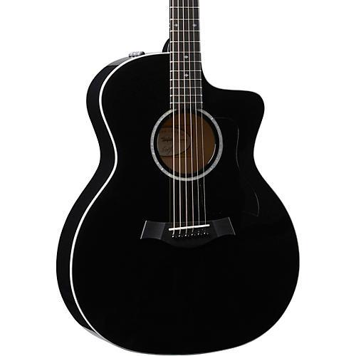 Taylor 214ce-BLK DLX Grand Auditorium Acoustic-Electric Guitar thumbnail