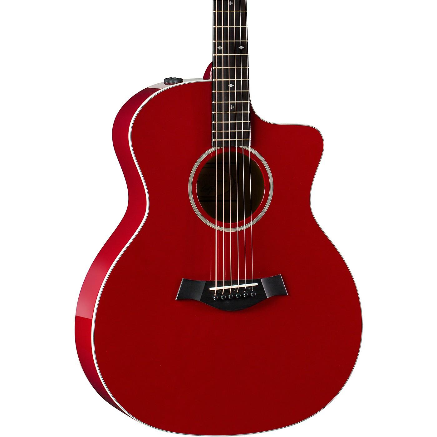 Taylor 214ce-Red DLX Grand Auditorium Acoustic-Electric Guitar thumbnail