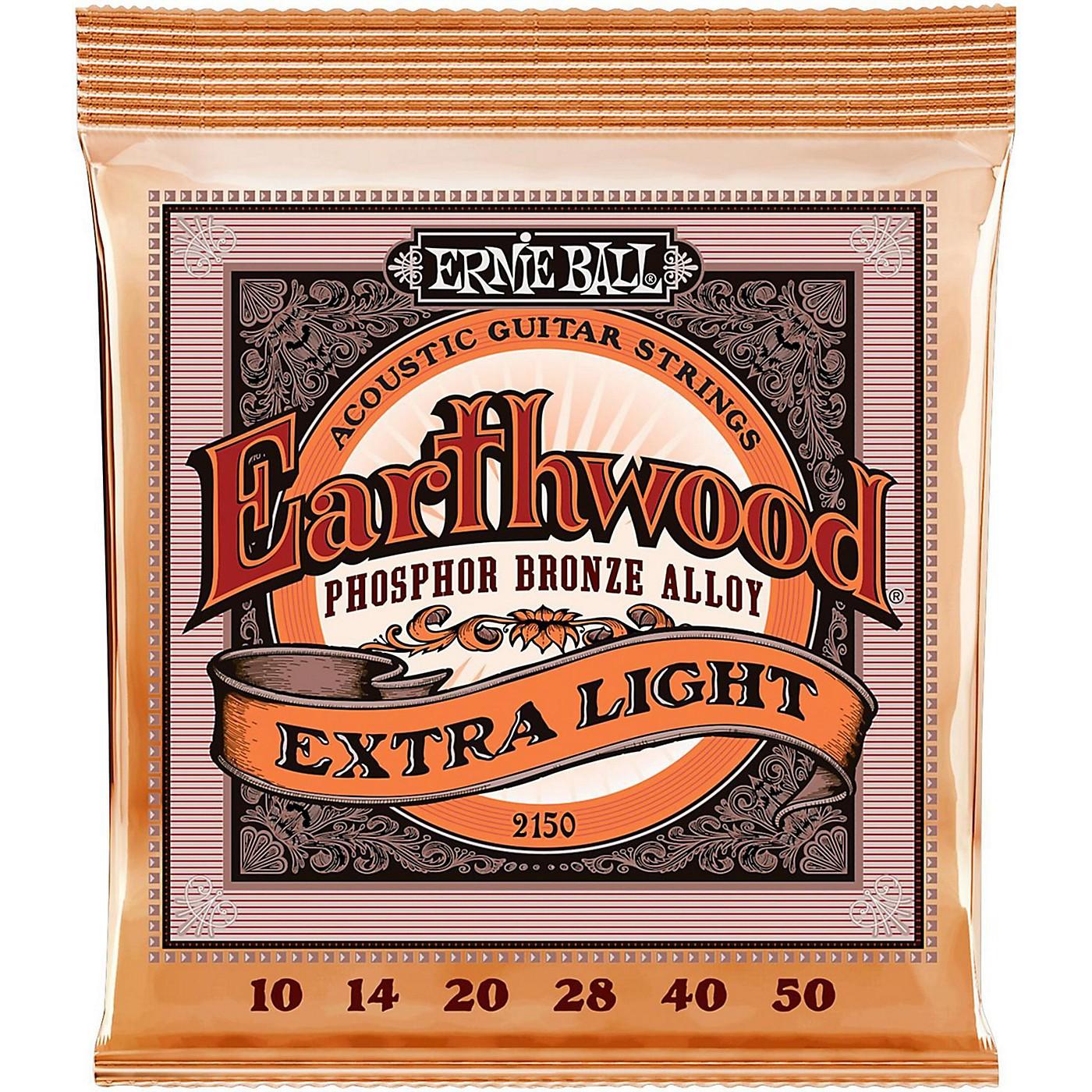 Ernie Ball 2150 Earthwood Phosphor Bronze Extra Light Acoustic Guitar Strings thumbnail