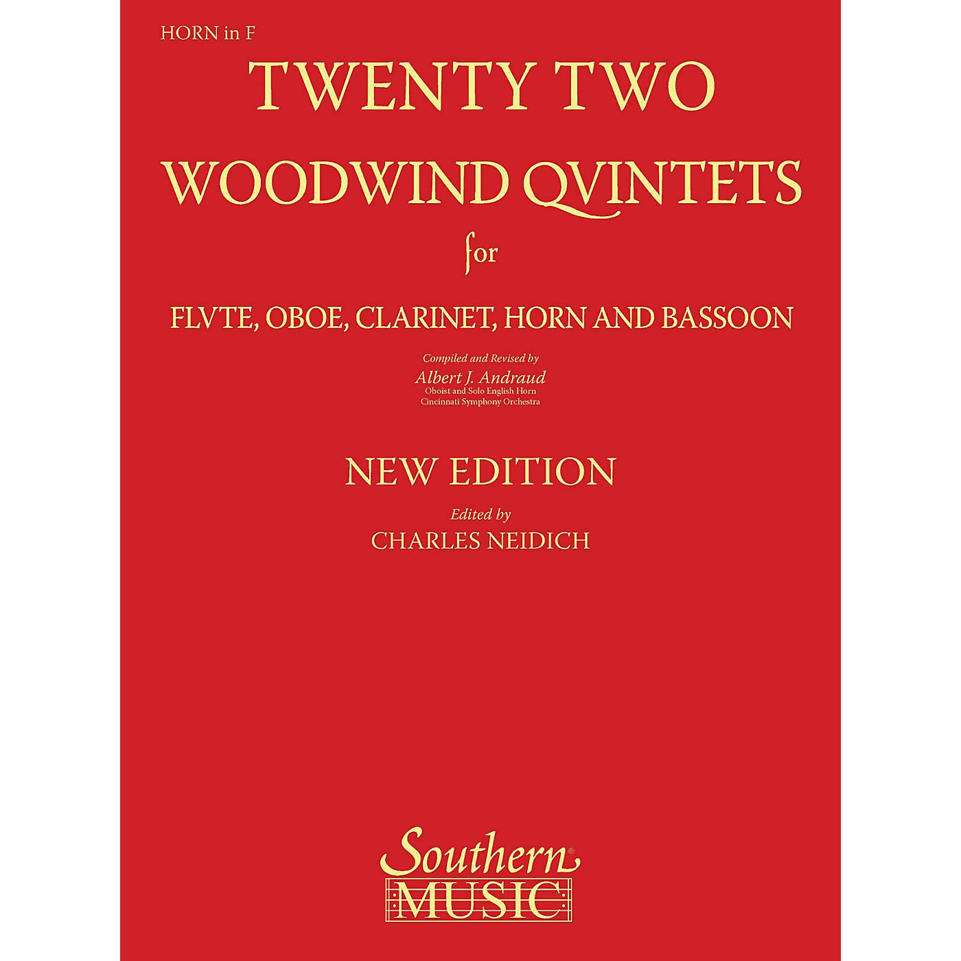 Southern 22 Woodwind Quintets - New Edition (Horn Part) Southern Music Series Arranged by Albert Andraud thumbnail