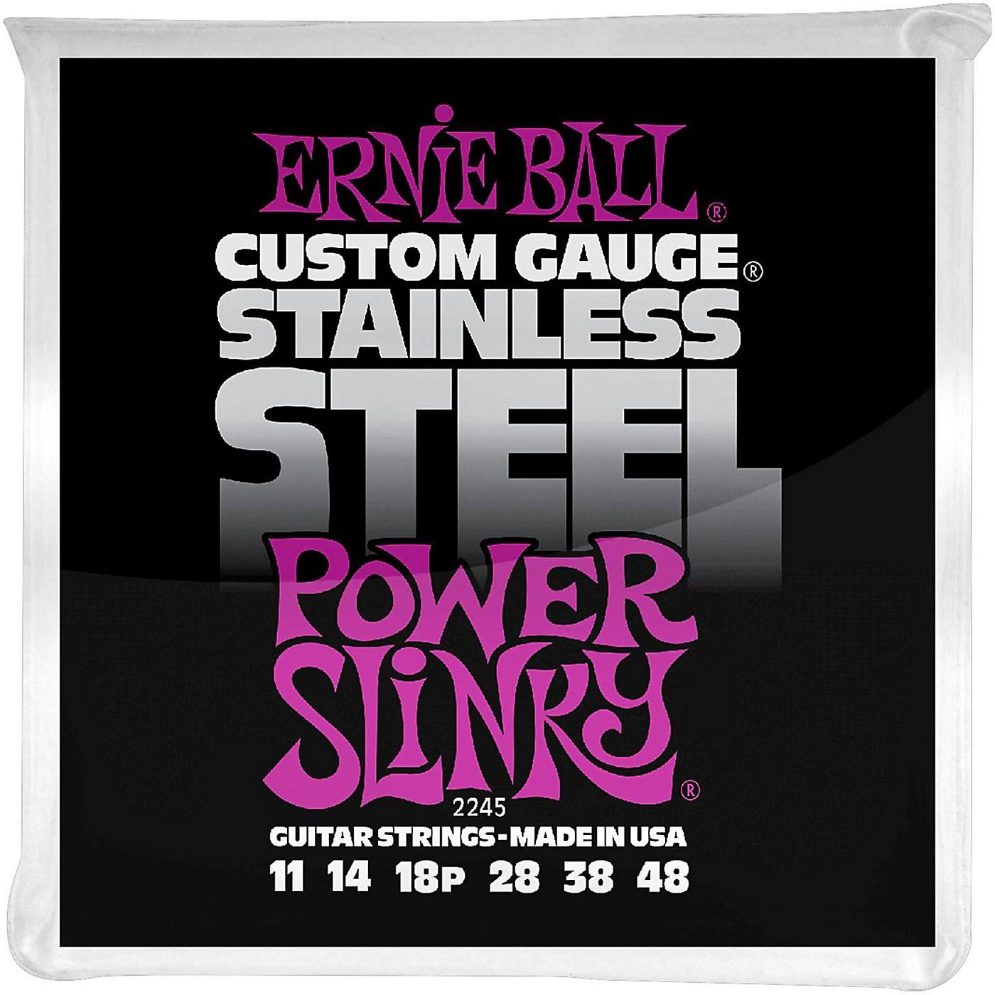 Ernie Ball 2245 Stainless Steel Power Slinky Strings thumbnail