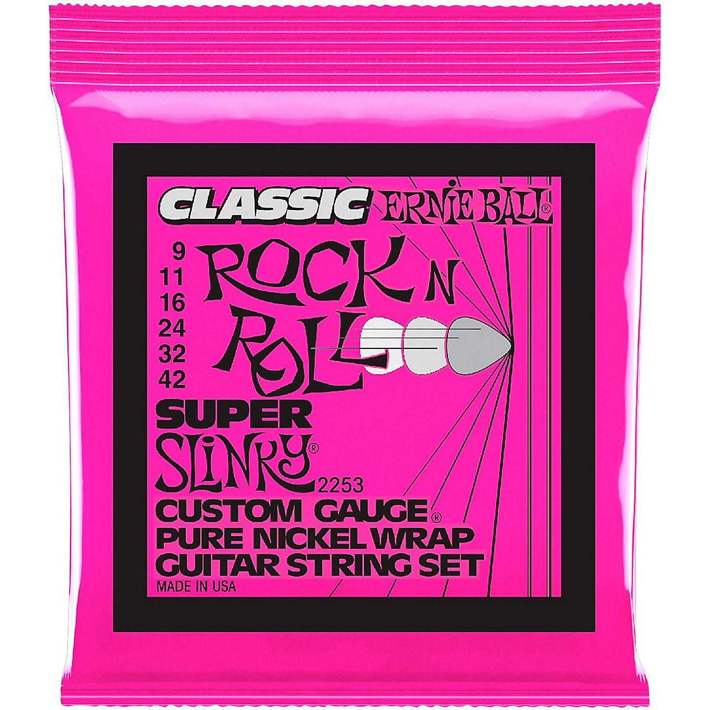 Ernie Ball 2253 Super Slinky Pure Nickel Electric Guitar Strings thumbnail