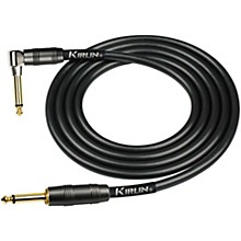 "KIRLIN 22AWG Instrument Cable, Carbon Black, 1/4"" Straight to Right Angle"