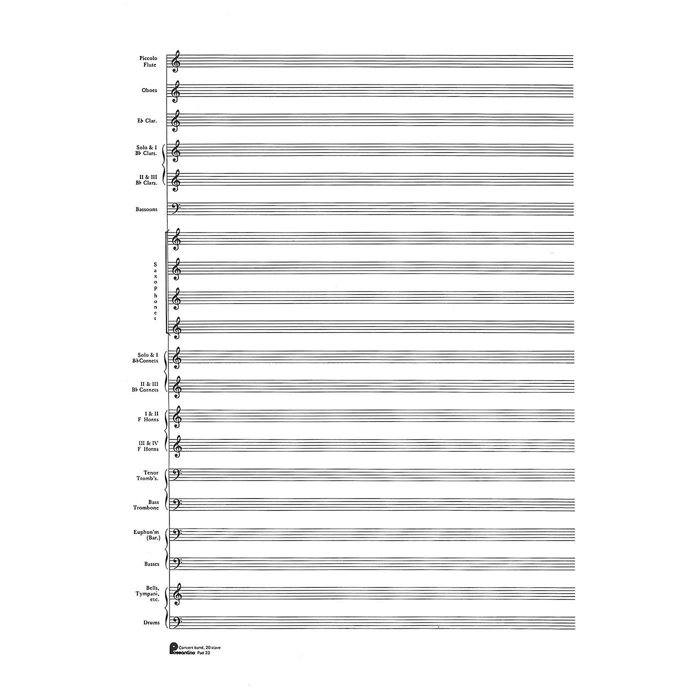 Music Sales 23. Score Pad: 20-stave (Concert Band) (Passantino Manuscript Paper) Music Sales America Series thumbnail