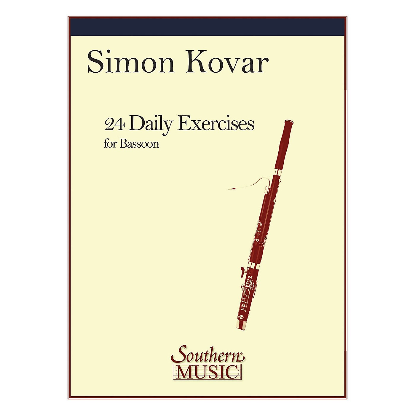 Southern 24 Daily Exercises for Bassoon (Bassoon) Southern Music Series by Simon Kovar thumbnail