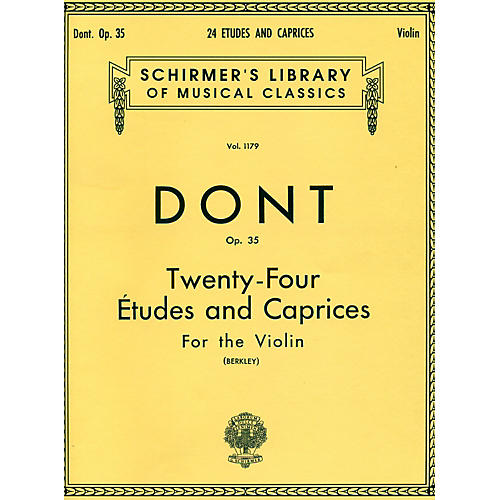 G. Schirmer 24 Etudes And Caprices for The Violin Op 35 By Dont thumbnail