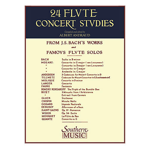 Southern 24 Flute Concert Studies (Unaccompanied Flute) Southern Music Series Composed by Johann Sebastian Bach thumbnail