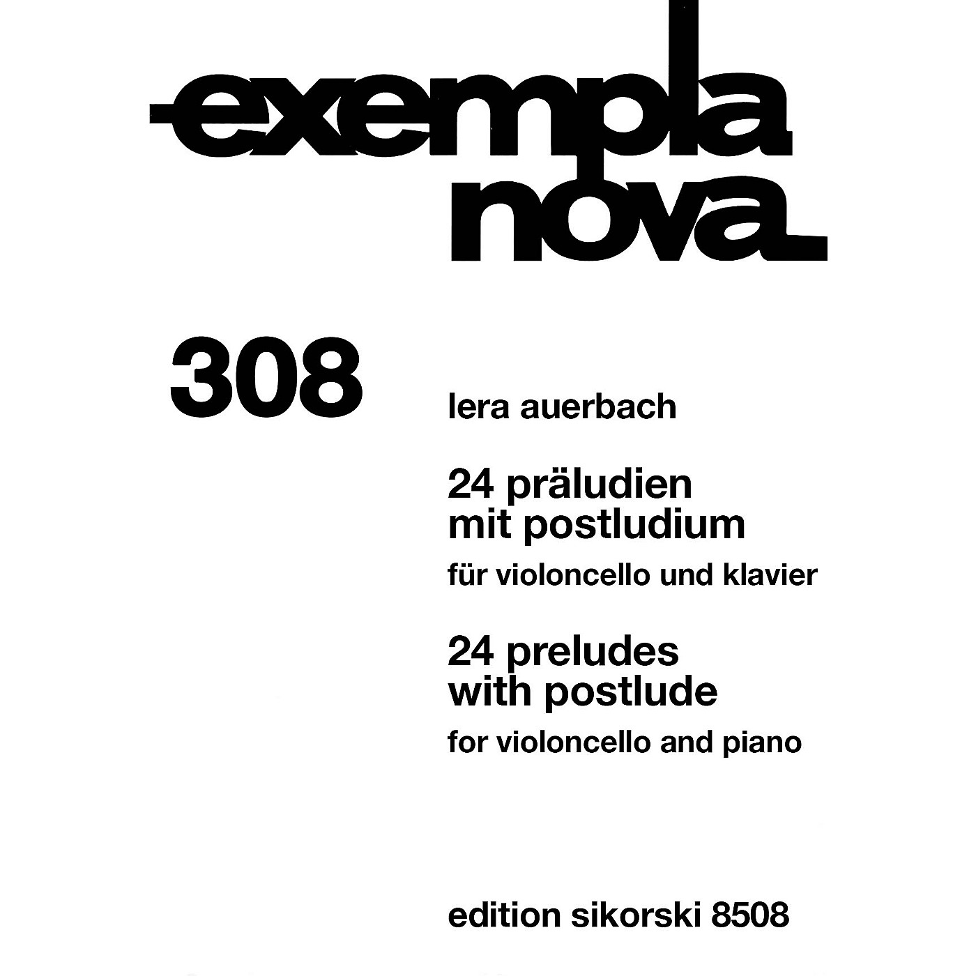 Sikorski 24 Preludes with Postlude (Cello and Piano) String Series thumbnail