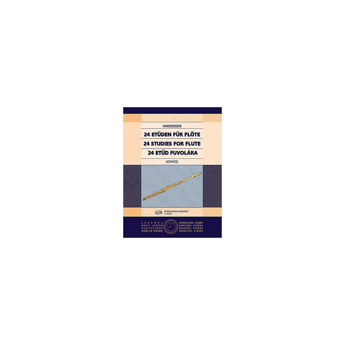 Editio Musica Budapest 24 Studies for Flute, Op. 15 EMB Series by Carl Joachim Andersen thumbnail