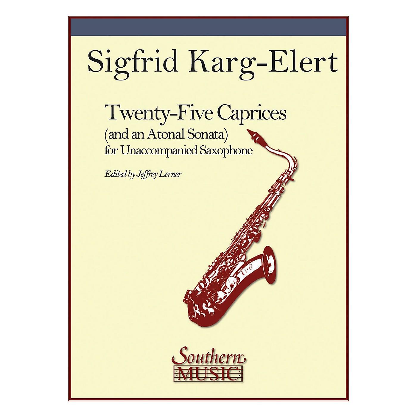 Southern 25 Caprices and an Atonal Sonata (Unaccompanied Saxophone) Southern Music Series by Jeffrey Lerner thumbnail