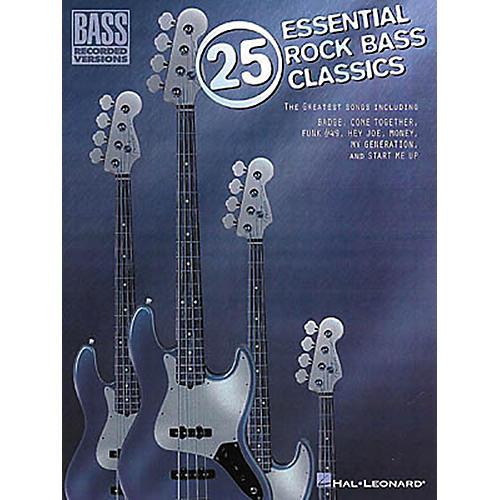 Hal Leonard 25 Essential Rock Bass Classics Tab Songbook thumbnail