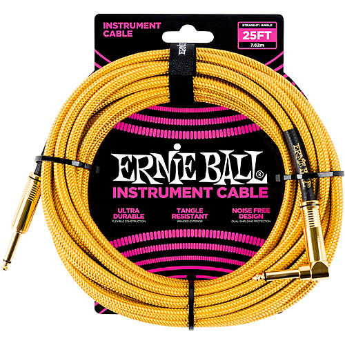 Ernie Ball 25 FT Straight to Angle Instrument Cable thumbnail