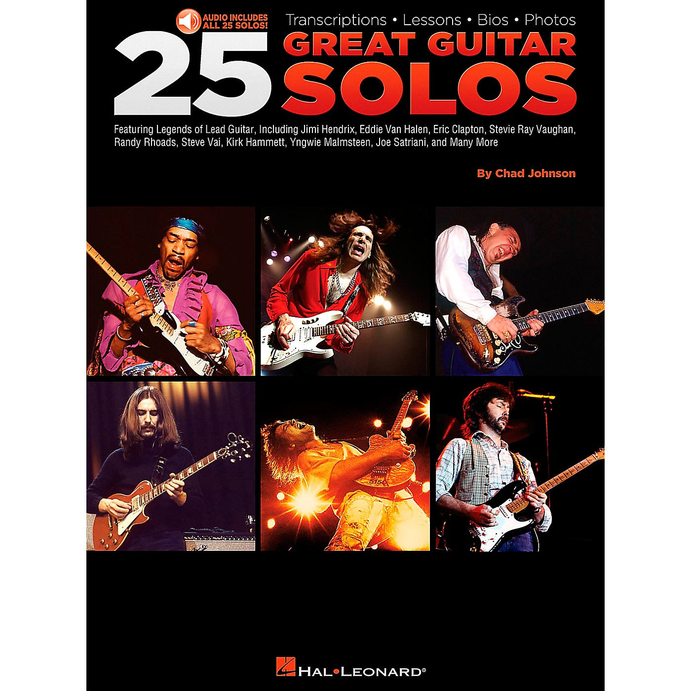 Hal Leonard 25 Great Guitar Solos Tab Songbook with CD thumbnail