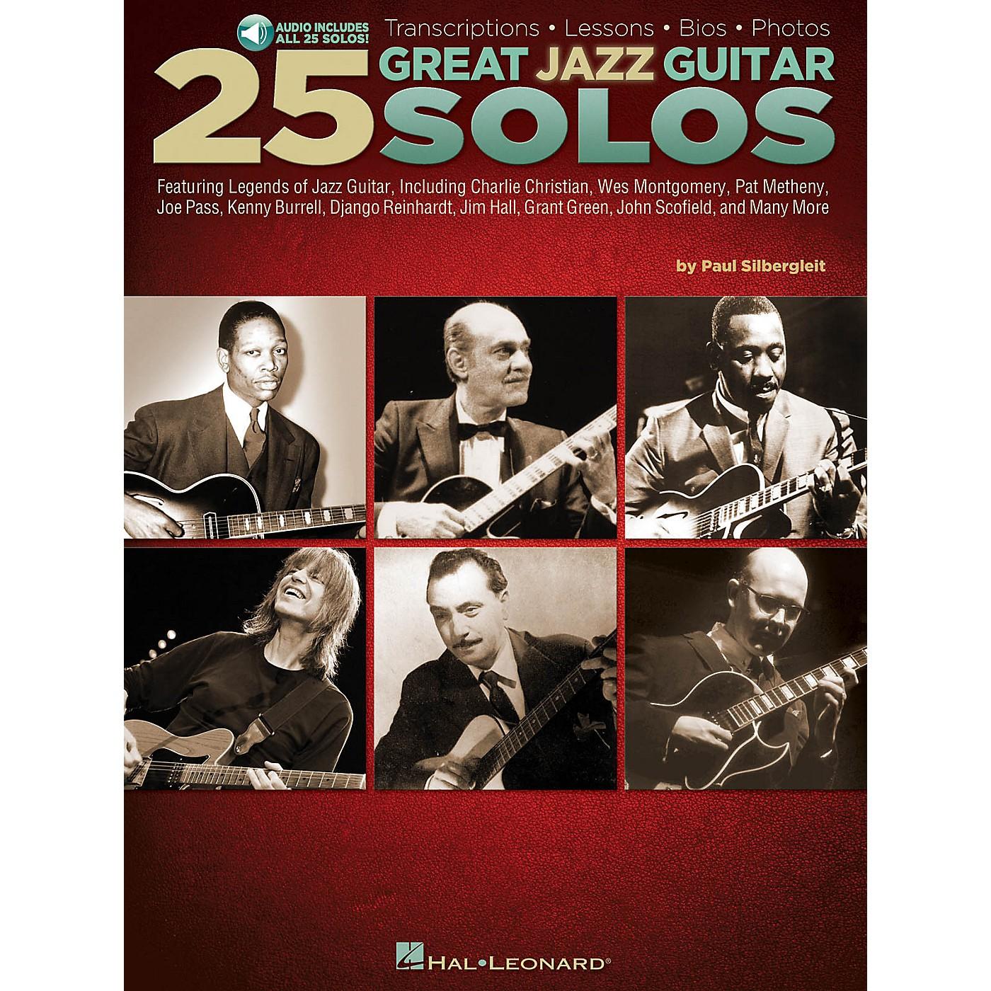 Hal Leonard 25 Great Jazz Guitar Solos Guitar Book Series Softcover Audio Online Written by Paul Silbergleit thumbnail