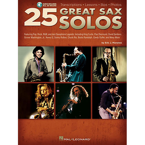 Hal Leonard 25 Great Sax Solos Sax Instruction Series Softcover Audio Online Written by Eric J. Morones thumbnail