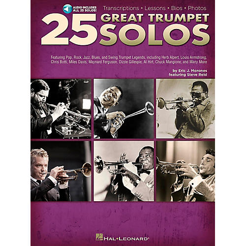 Hal Leonard 25 Great Trumpet Solos Book/CD includes Transcriptions * Lessons * Bios * Photos thumbnail