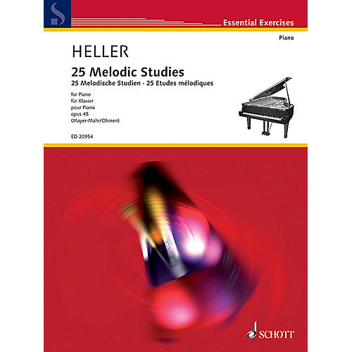 Schott 25 Melodic Studies, Op. 45 Schott Series Softcover Composed by Stephen Heller Edited by Wilhelm Ohmen thumbnail